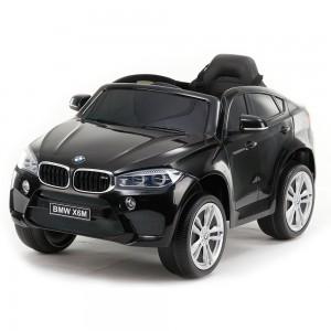 Акумулаторен джип BMW X6M кожена седалка