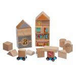 Конструктор от дървени блокчета, 25 части, Lucy&Leo
