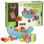 Дървена игра за баланс Joueco - Тюлен