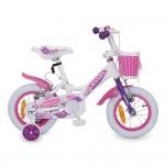 """Детски велосипед 12"""" Princess бял"""