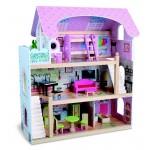 Дървена къща за кукли Mila, Moni Toys
