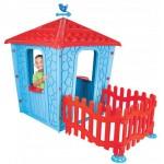 Детска каменна къща с ограда